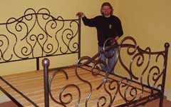 Ornate wrought iron bed